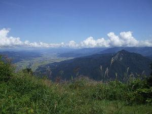大峯山山頂付近
