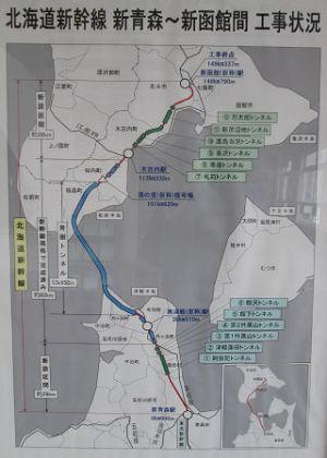 北海道新幹線工事状況