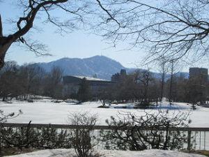 中島公園から藻岩山