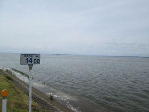 右岸14km