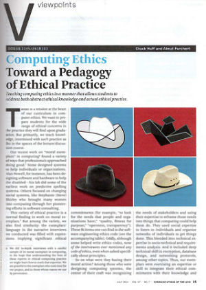 Computing Ethics