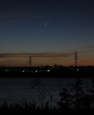 金星と木星