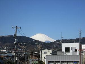 渋沢駅前からの富士山