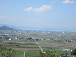 安土天主からの琵琶湖