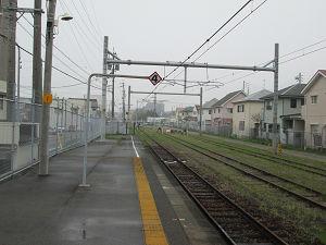 武豊駅線路止め