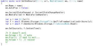 MediaElementの各種設定