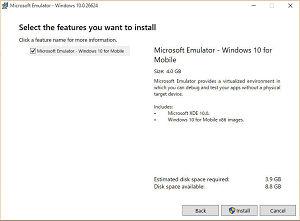 Microsoft Emulator Windows 10