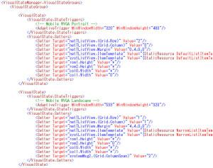 VisualStateのStateTriggersの例