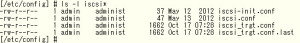 iSCSI target configuration