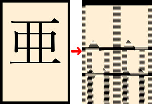 崩れた漢字イメージ