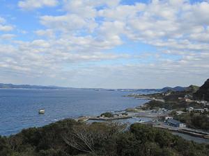 洲崎灯台から東京湾奥