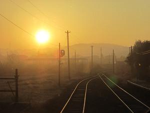 小湊鐵道からの日の出