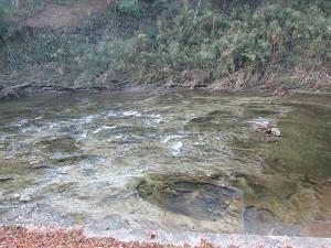 川底の模様