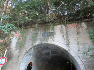 共栄トンネルをくぐる