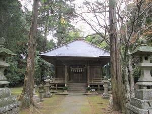 軍荼利山東浪見寺本堂