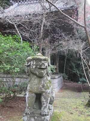 軍荼利山右の狛犬