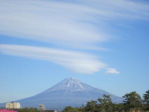 田子の浦から富士山