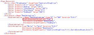 RingSliceのEndAngleのanimation定義