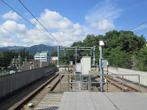武蔵五日市駅線路止め
