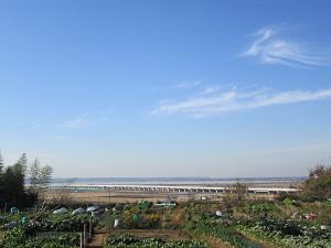 スカイアクセスと印旛沼