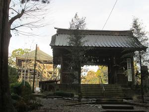 笠森寺山門と観音堂