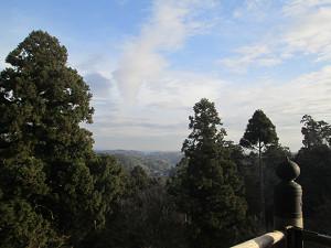 笠森寺堂上からの眺め