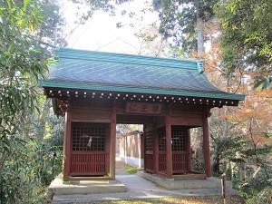 笠森寺裏山道への門