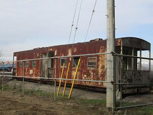 うち捨てられた貨車