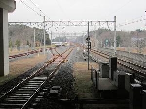 ちはら台駅構内の線路