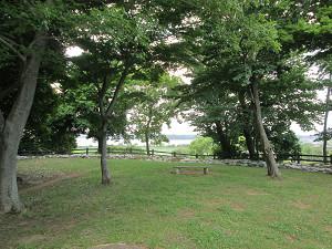 二の丸から印旛沼方面