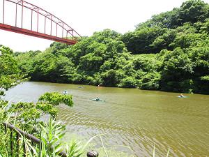 捷水路のカヌー