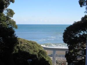 磯前神社から海の眺め