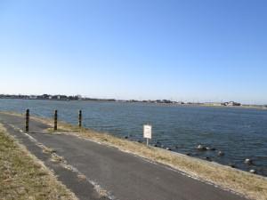 鰐川沿いの道