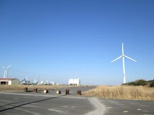 風車とはさき港