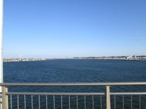 利根大橋から河口