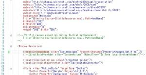 XAMLでデータ供給元の定義