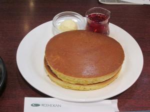 珈琲館のホットケーキ