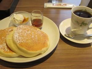 リコッタパンケーキのモーニング