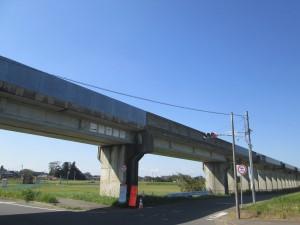 鹿島臨海鉄道の高架
