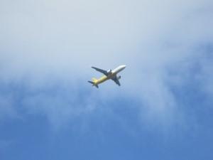 飛行機の通り道