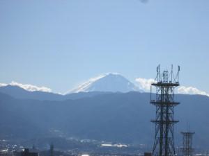 甲府城からの富士山