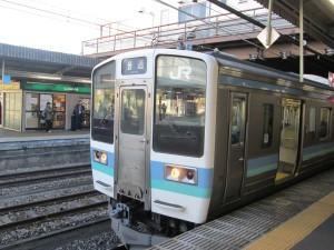高尾からは青い列車