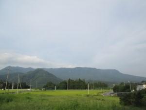 奥利根の山並み