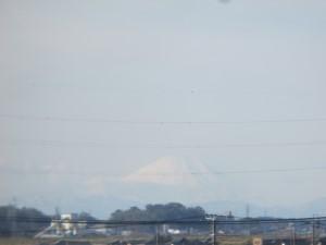 利根川から富士山