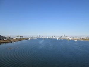 江戸川上流方向の眺め